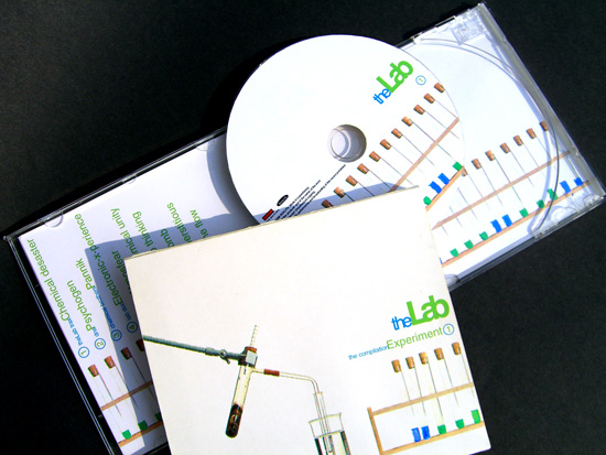 CD cover showing the Lap corporate identity