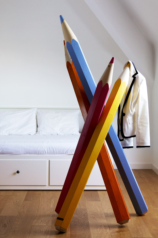 pencil coat hanger by valenteone